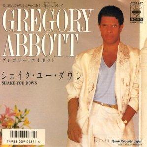 グレゴリー・アボット - シェイク・ユー・ダウン - 07SP997