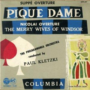 パウル・クレツキ - スッペ:歌劇「スペードの女王」序曲 - EW-89
