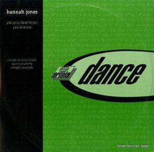 ハンナ・ジョーン - you only have to say you love me - 74321-53603-1