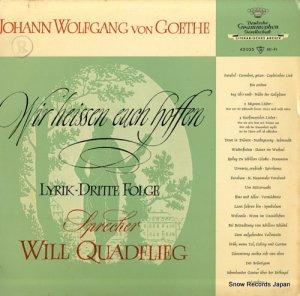 ウィル・クアドフリーグ - johann wolfgang von goethe