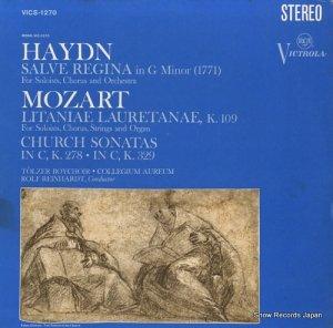ロルフ・ラインハルト - haydn; salve regina, mozart; litaniae lauretanae, church sonatas - VICS-1270