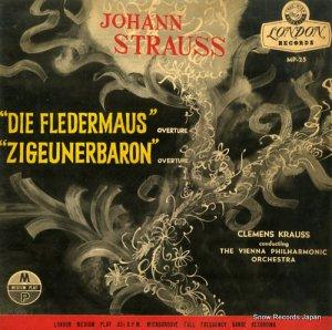 クレメンス・クラウス - ヨハン・シュトラウス:喜歌劇「こうもり」「ジプシー男爵」序曲 - MP-25