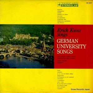 エーリッヒ・クンツ - ドイツ学生の歌 - SH5052