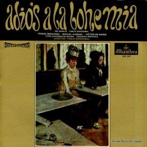 パブロ・ソロサバル - adios a la bohemia - SCE937