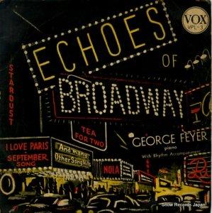 ジョルジュ・フェイエル - echoes of broadway - VPL-3