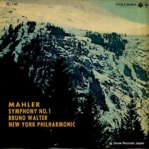 ブルーノ・ワルター - マーラー:交響曲第1番ニ長調 - RL-146