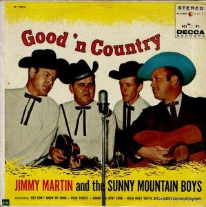 ジミー・マーティン - good'n country - DL74016