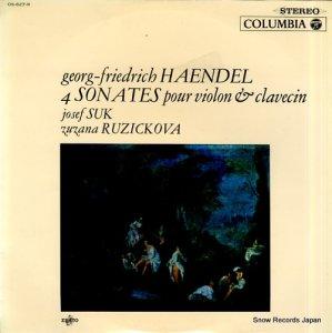 ヨセフ・スーク - ヘンデル:ヴァイオリン・ソナタホ長調、ト短調、ニ長調、イ長調 - OS-627-R