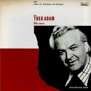 テーオ・アダム - シューマン、r.シュトラウス:歌曲集 - ET-5189