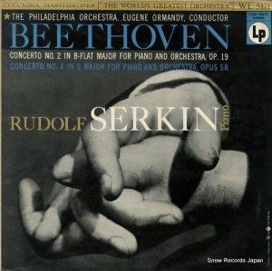 ルドルフ・ゼルキン - ベートーヴェン:ピアノ協奏曲第2番&4番 - WL5171