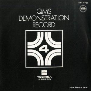 QMSデモンストレーションレコード - ptsクリヤーサウンド - TX4-1701