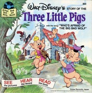ウォルト・ディズニー - three little pigs - DISNEYLAND303
