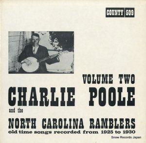 チャーリー・プール - old time songs recorded from 1925 - 1930 volume 2 - COUNTY509