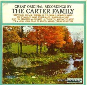 ザ・カーター・ファミリー - great original recordings by the carter family - HL7300