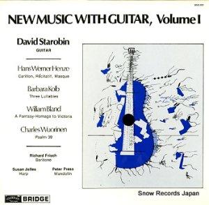 デイヴィッド・スタロビン - new music with guitar, volume1 - BDG2001