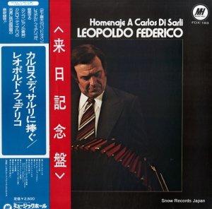レオポルド・フェデリコ - カルロス・ディサルリに捧ぐ - FDX-183