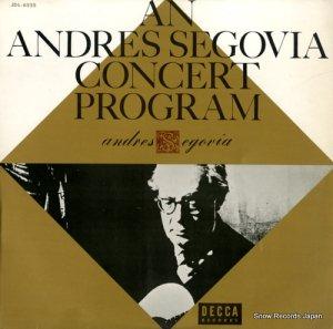 アンドレス・セゴビア - コンサート・アルバム - JDL-6525