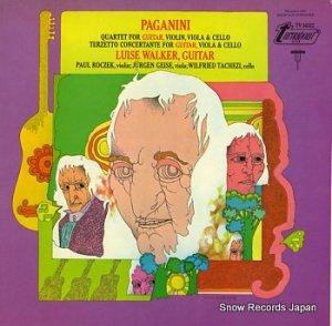 ルイゼ・ワルカー - paginini; quartet no.7 in e major - TV34322