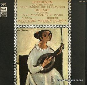 マリア・シビッターロ - ベートーヴェン:quater pieces pour mandoline et clavecin - CPTA350