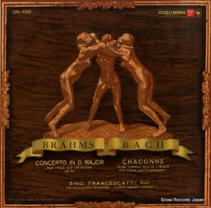 ジノ・フランチェスカッティ - ブラームス ヴァイオリン協奏曲ニ長調作品77 - LPL-1005