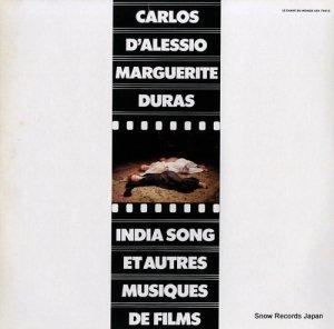 カルロス・ダレッシオ&マルグリット・デュラス - india song et autres musiques de films - LDX74818
