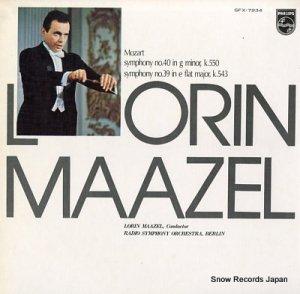 ローリン・マゼール - モーツァルト:交響曲第40番&39番 - SFX-7934