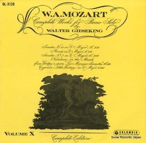ワルター・ギーゼキング - モーツァルト:ピアノ音楽全集第10集 - OL-3120