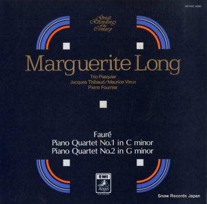 マルグリット・ロン - フォーレ:ピアノ四重奏曲第1番&第2番 - GR-70037