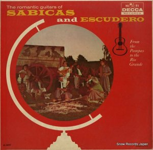 SABICAS AND ESCUDERO - the romantic guitars of sabicas and escudero - DL8897