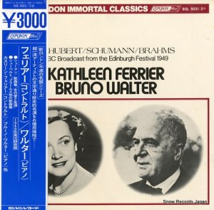 カスリーン・フェリアー - フェリアー(コントラルト)/ワルター(ピアノ) - SOL5021/2M