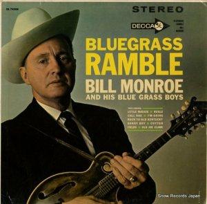 ビル・モンロー - bluegrass ramble - DL74266