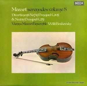 ウィリー・ボスコフスキー - mozart; serenades volume 8 - SXL6670