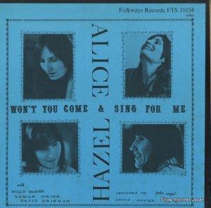 ヘイゼル・ディッケンズ&アリス・フォスター - won't you come and sing for me ? - FTS31034