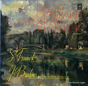 ダヴィド・オイストラフ/スヴャトスラフ・リヒテル - franck; sonata for violin and piano in a major, (1886) - CM02257-58
