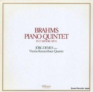 イエルク・デームス - ブラームス:ピアノ五重奏曲ヘ短調作品34 - VIC-5388