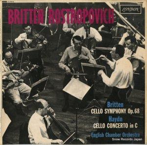 ベンジャミン・ブリテン - britten; symphony for cello & orchestra - CS6419