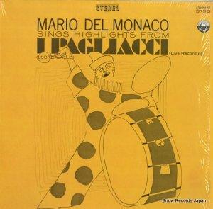 マリオ・デル・モナコ - mario del monaco sings highlights from i pagllacci - EVERST3190