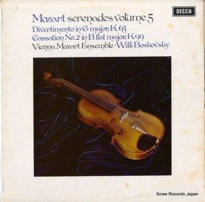ウィリー・ボスコフスキー - mozart; serenades volume 5 - SXL6500