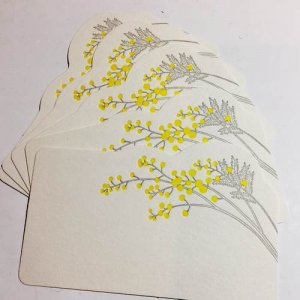 【HUTTE PAPER WORKS】活版印刷のミニメッセージカード(5枚セット)