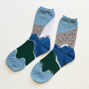 【+10(テンモア)socks】 森の鉄道1と1/4ソックス マナウイアン