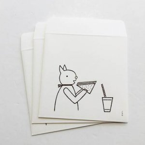 【ノラヤ】ミニ封筒 ねことサンドイッチ