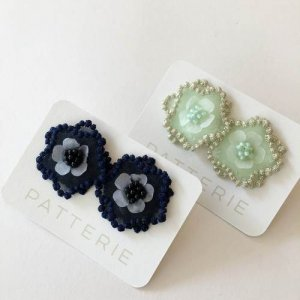 【patterie】BUBBLE FLORAL ピアス/イヤリング