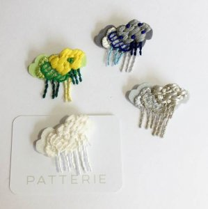 【patterie】CLOUDY RAINY BROOCH