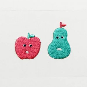 【AIUEO】アップリケ/COUPLE・FRUITSCHAN