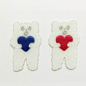 【AIUEO】アップリケ/COUPLE・KUMA COUPLE