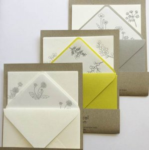 【HUTTE PAPER WORKS】BOTANICAL GARDEN レタープレスレターセット2
