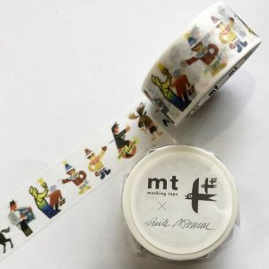 【mt×artist series】マスキングテープ/エリック・ブルーン(人々)