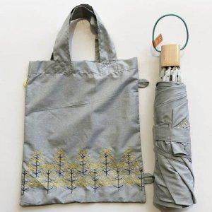 【korko】刺繍折りたたみ日傘 /菜の花