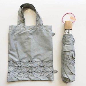 【korko】刺繍折りたたみ日傘 /バードソング