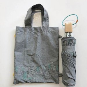 【korko】刺繍折りたたみ日傘 /かくれんぼ